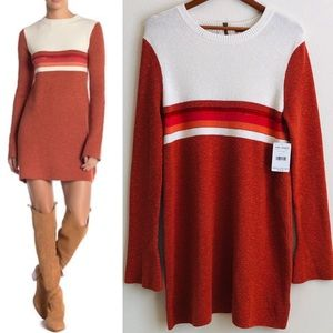 NWT Free People colorblock sweater dress - LARGE